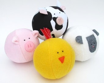 Barnyard Ball - PDF sewing pattern - free shipping