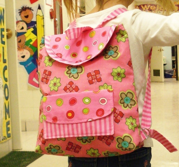 Preschool Backpack - IMMEDIATE DOWNLOAD - a PDF sewing pattern - free shipping