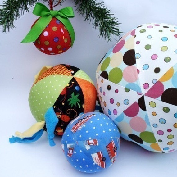 Ball and Ornament Pattern, a pdf sewing pattern - free shipping IMMEDIATE DOWNLOAD