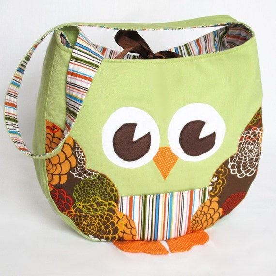 Funky Little Owl Bag, immediate download of pdf sewing pattern