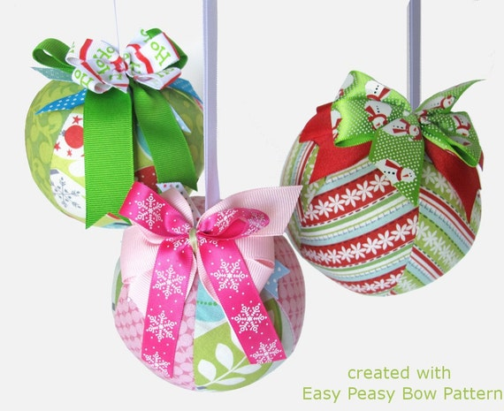 DIY Ornament Pattern, a pdf sewing pattern - free shipping IMMEDIATE DOWNLOAD