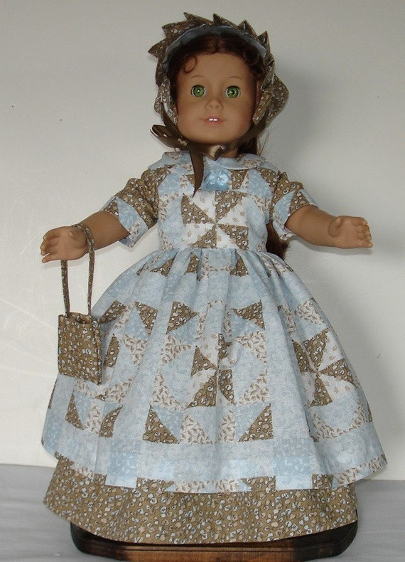Prarrie Dress designed for American Girl Felicity or Kirsten 4 pc.  No. 273