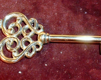 Large Fancy Filigree Key