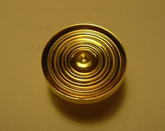 Set of Six Small Solid Brass Drawer Pulls