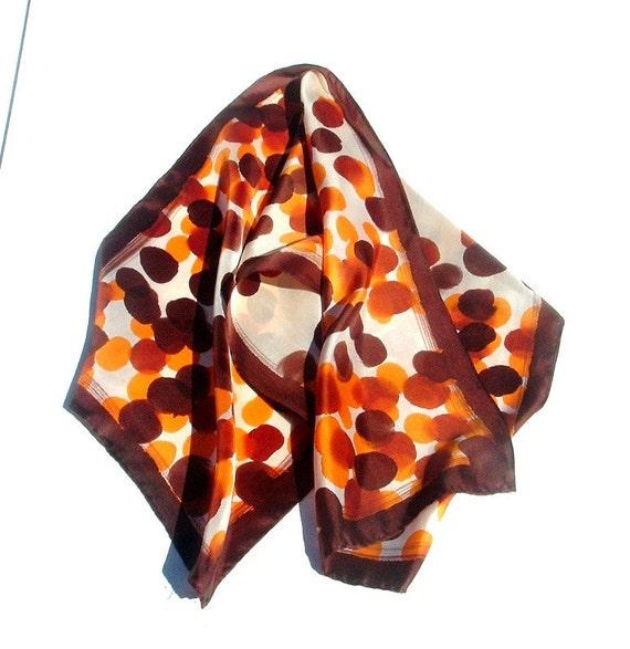 Brown, Orange and White Neck Scarf