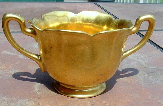 Pickard Gold Plated Sugar Bowl