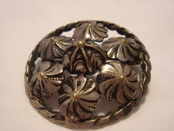 Sterling and  Silver Plate  Pin