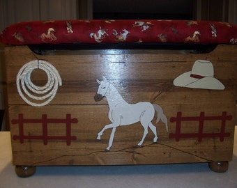 Western Themed Toy Box (Lasso's and Lace Collection)