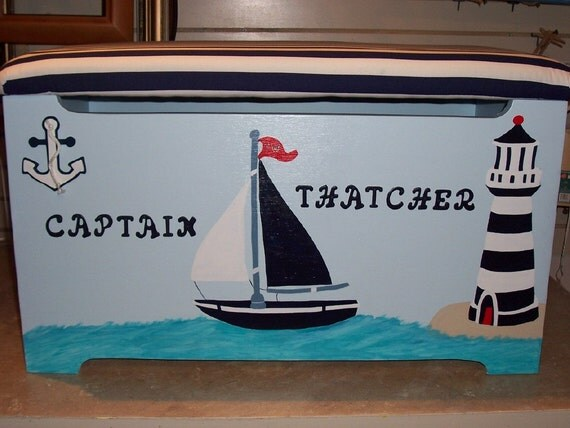 Nautical Themed Toy Box
