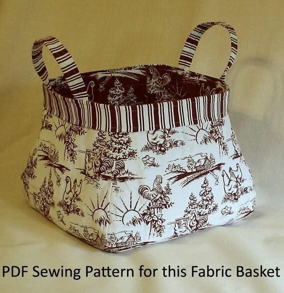 Fabric Basket PDF Sewing Pattern by KerbaCustomSewing on Etsy