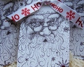 Better Not Pout Santa Claus is Coming to Town Gift Tags Set of 6