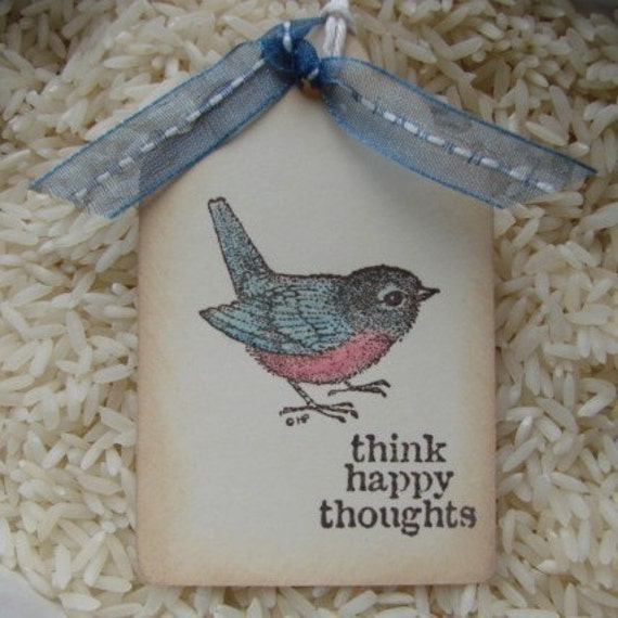 Think Happy Thoughts All Occasion Gift Tags Set of 6