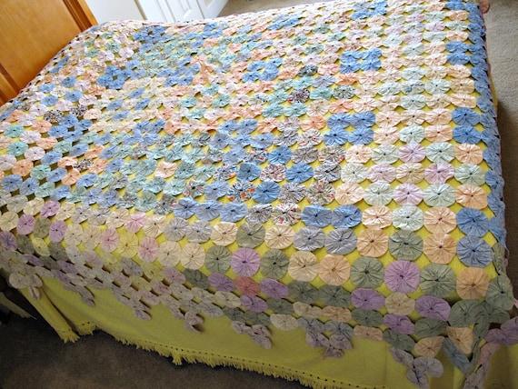 yoyo coton couvre lit couvre lit fait main couverture. Black Bedroom Furniture Sets. Home Design Ideas