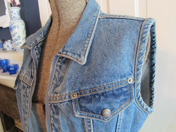 Blue Denim Vest by Paris Blues Size M