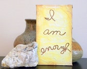 Painting Original Acrylic I Am Enough hand painted by Maine Artist Beth Doan