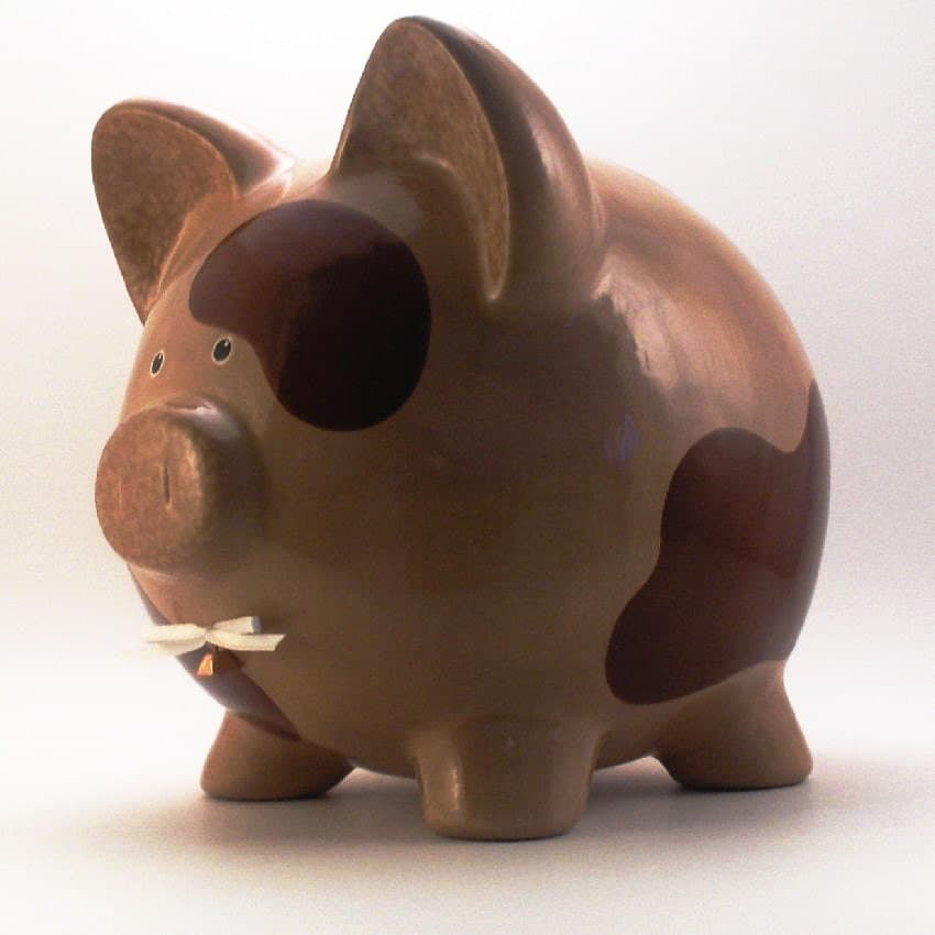 Ceramic Brown Cow Piggy Bank Personalized Free