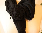 REDUCED minimalist black rayon scarf