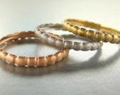 Wedding rings, stacking rings. 14k gold.
