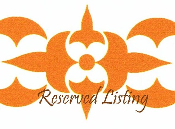 Reserved Listing for Samantha. 2nd and last payment