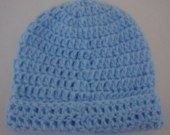 Sky Baby Crocheted Hat