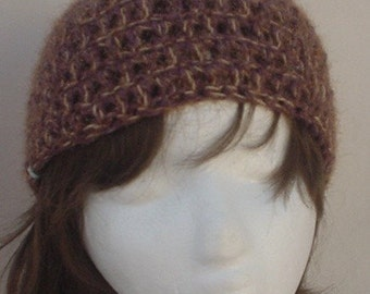 Amber Glow Crocheted Hat