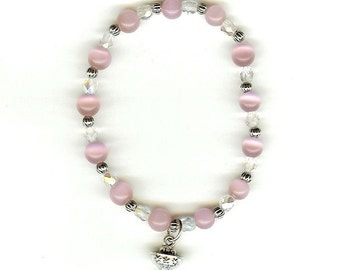 First Communion Stretch Bracelet w/3D Chalice and Host- In Your Choice of Colors