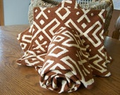 TRIBAL COTTON TOWEL/Hot Pad Set lined in Organic Cotton