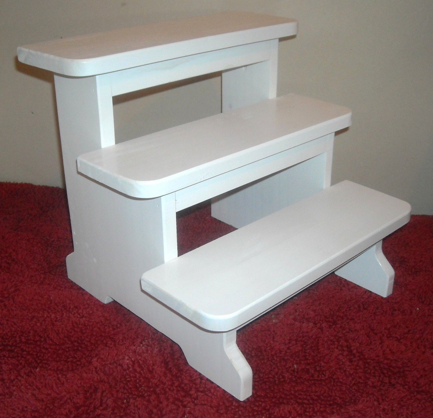 Kids 3 step stool white Bathroom step stool for kids