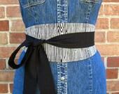 reversible obi belt - faux bois