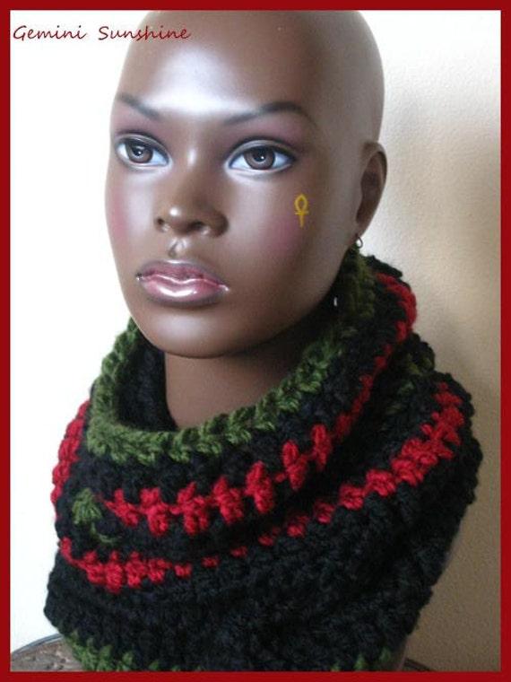 RBG Chunky Crochet Cowl Neckwarmer