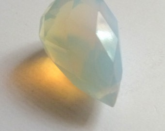 Large Opalescent   Crystal Briolette Bead