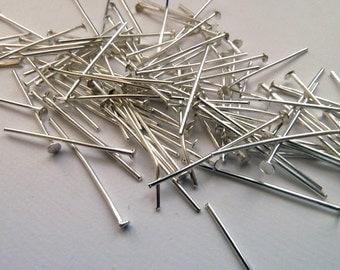 30mm Silver Flat Head Pin SALE