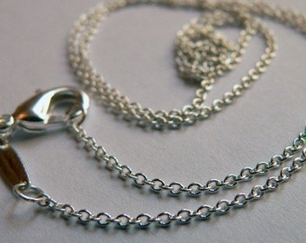5- 24 inch Rolo Silver Chains