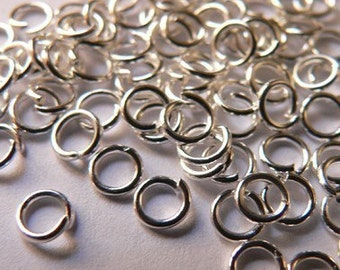 75 Silver Jump Rings 4 mm