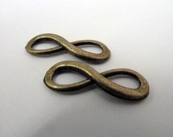 Bronze Infinity Charm Connector