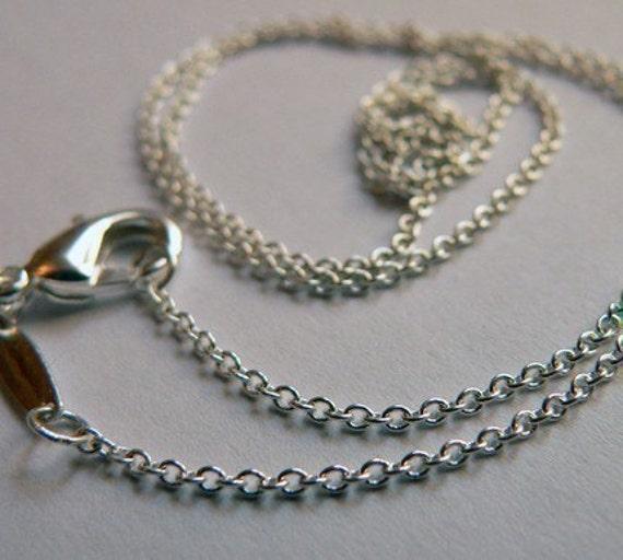 18 Inch Rolo Silver Chain Bulk Order 10 Chains