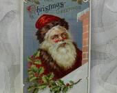 Vintage Santa Christmas Postcard - 1911