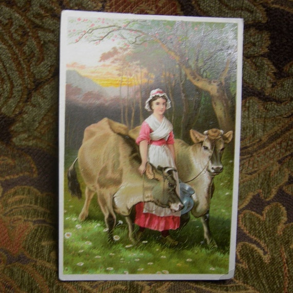 Vintage Trade Card - Dr Jayne's Patent Medicine - The Jerseys No. 14 in the Album Card Series