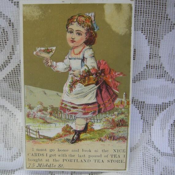 Vintage Trade Card - Portland Tea Store