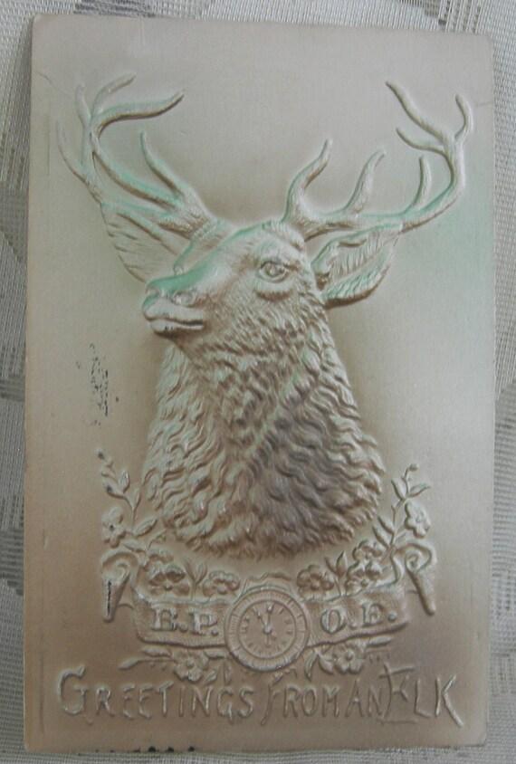 Antique Vintage Postcard - Benevolent Protective Order of the Elks