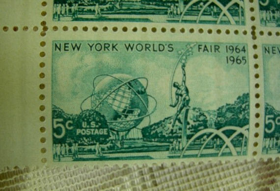 Plate Block Postage Stamps - New York World's Fair - 1964