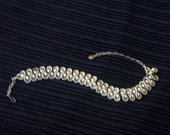 Vintage Pearl And Rhinestone  Heirloom Necklace