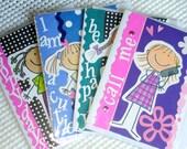 Greeting Cards  KIDS' HAPPY FACES  Polka Dots  Handmade Set of 4