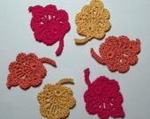 Autumn Leaves Appliques - crochet