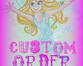 Picture Frame  Custom Art in the Design of your Choice  Hand Painted  Personalized  -  5 x 7