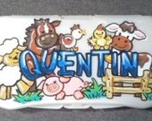 Baby Wipes Travel Case Personalized Farm Babies Handpainted