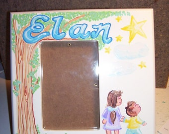Picture Frame -Remembering a Child  Memory Star - Handpainted and Personalized