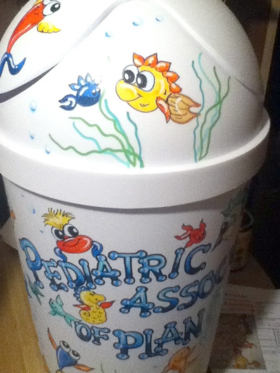 Hamper Under the Sea Fish Design Personalized and Handpainted