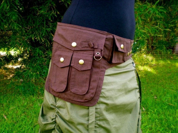 Medium - Heroe Saddle Bags - Cotton Canvas - Vegan - Washable - Chocolate Brown