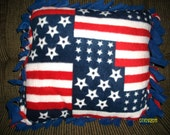 Stars & Stripes Fleece Tied Pillow
